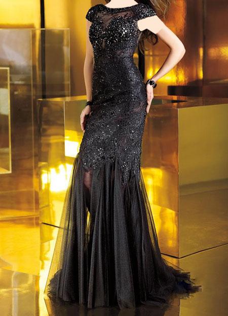 لباس شب مشکی 2015
