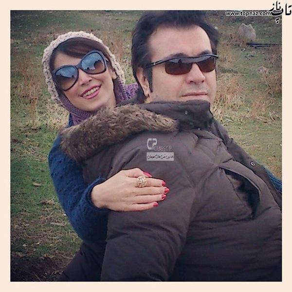 سروین رفیعیان و همسرش رضا پاپی