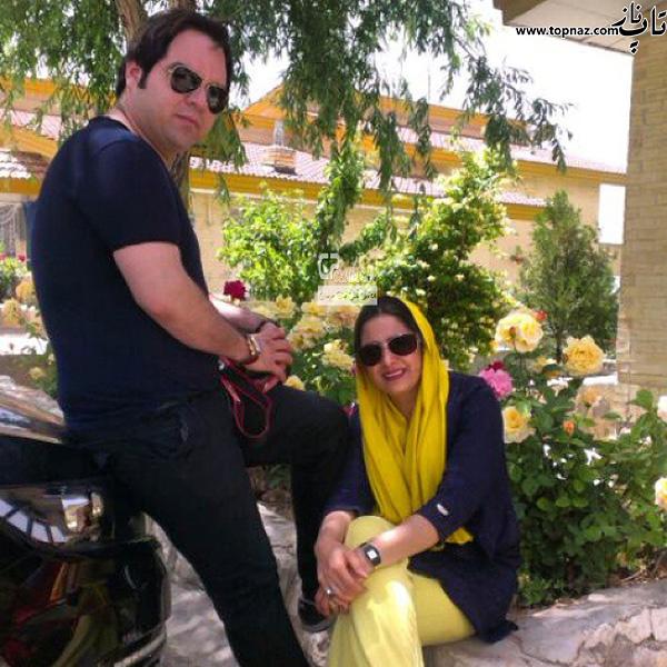 شهرام قائدی و همسرش