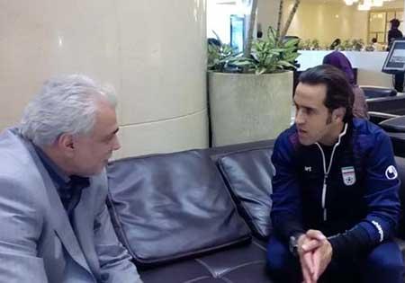 عکس علی کریمی در لباس تیم ملی