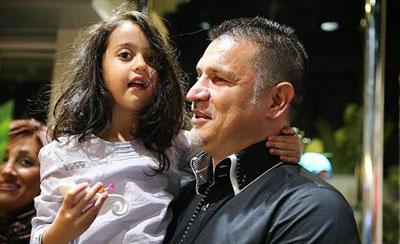 رابطه عاطفی و عمیق علی دایی و دخترش
