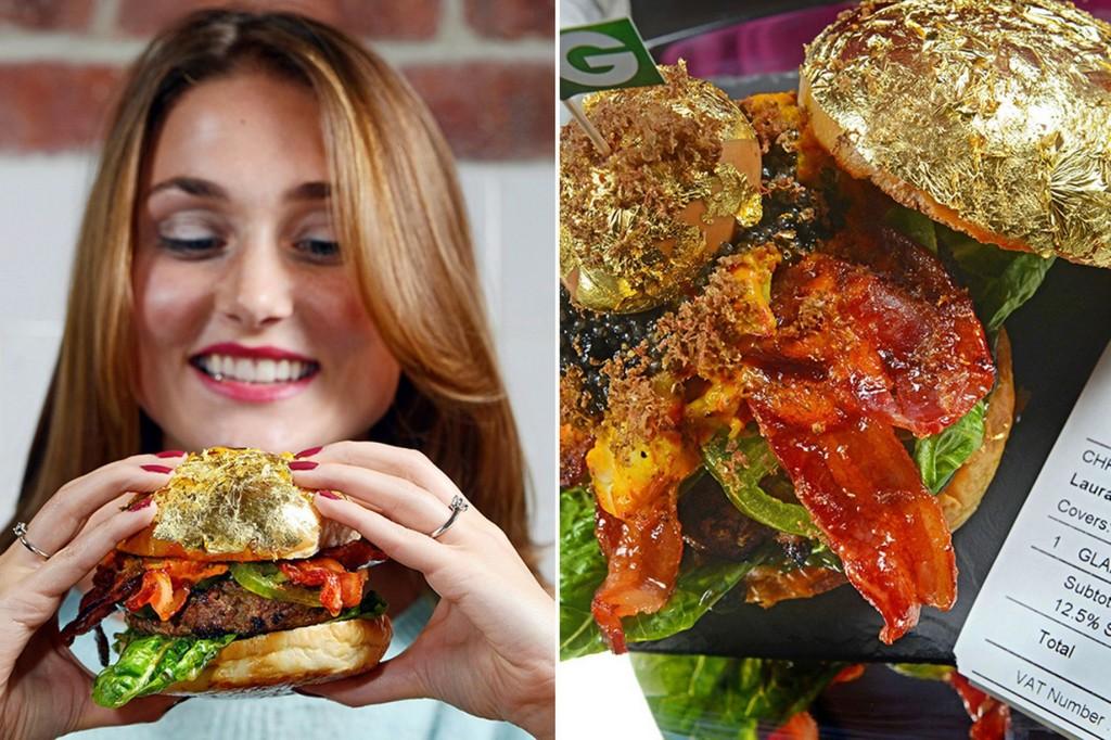 گران ترین همبرگر جهان با طلای خوردنی!