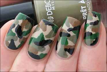 طراحی ناخن ارتشی