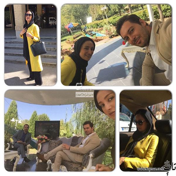 بهاره افشاری در کنار دانیال عبادی در برنامه زنده رود اصفهان