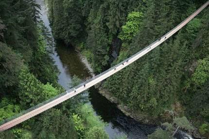 بلندترین پل معلق جهان کجاست؟ +عکس