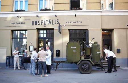 رستوران عجیب شبیه به بیمارستان!