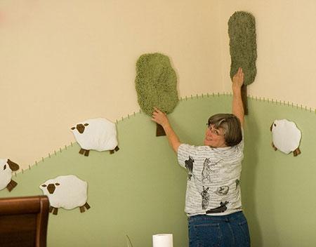 تزیین اتاق نوزاد,تزئین دیوار اتاق نوزاد
