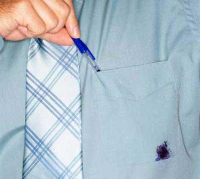 پاک کردن جوهر خودکار از روی لباس