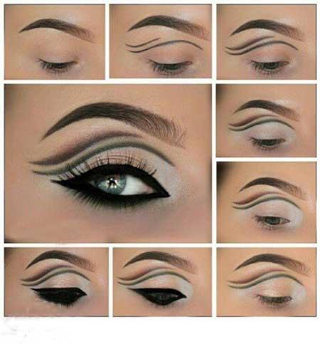 آموزش آرایش ترکیبی چشم مجلسی