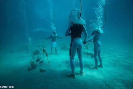 مراسم عروسی زیر آب