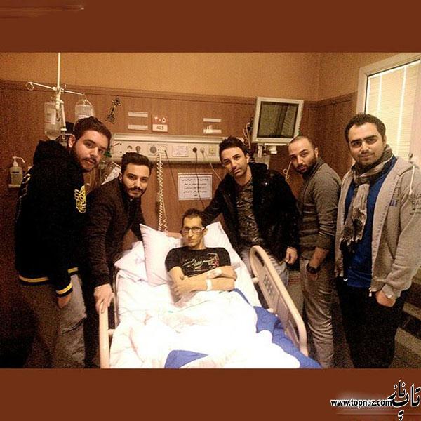 علی لهراسبی و گروه پازل باند و مهرزاد امیرخانی / عیادت مرتضی پاشایی در بیمارستان