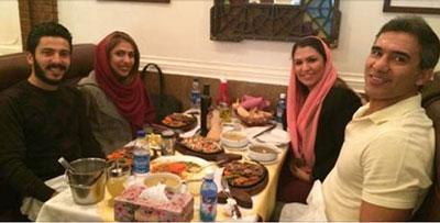 عکس عابدزاده در کنار همسر و دختر و دامادش