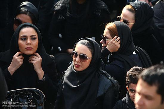 چهره ها در مراسم تشییع مرتضی پاشایی