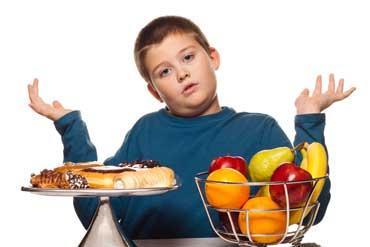 مشکل چاقی اضافه وزن کودکان