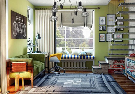 دکوراسیون اتاق خواب,اتاقخوابهای خلاقانه