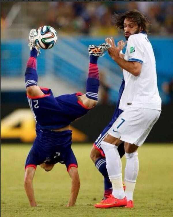 عکس جالب و خنده دار ورزشی