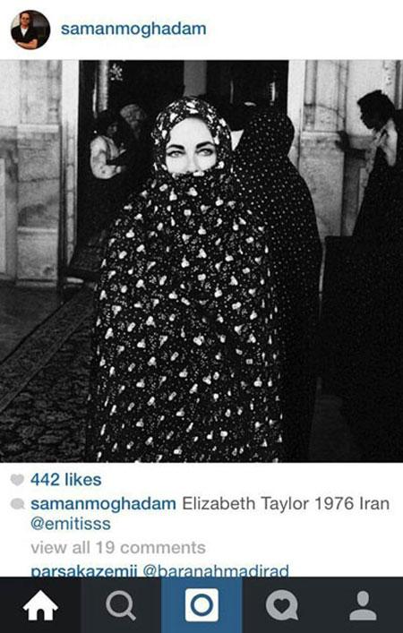 الیزابت تیلور در مشهد
