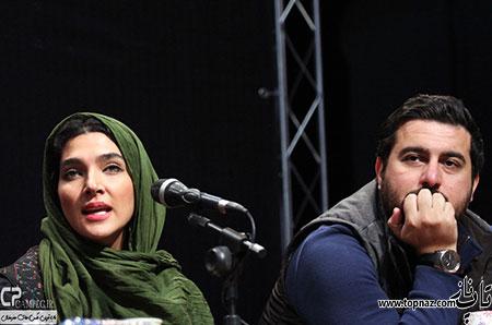 بازیگران در نشست خبری سریال پرده نشین