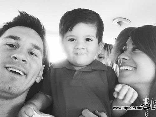 عکس خانوادگی لیونل مسی Lionel messi