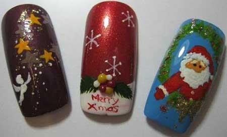 مدل ناخن با طرح کریسمس, طراحی و تزیین ناخن