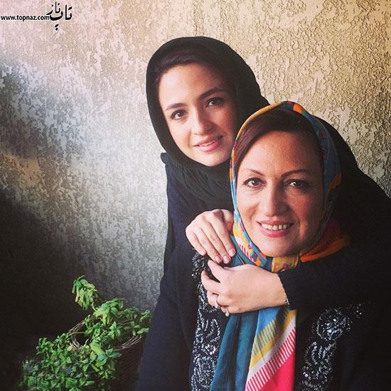 گلاره عباسی و مادرش