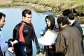 نیوشا ضیغمی و امین حیایی با لباس غواصی در فیلم آدم باش +عکس