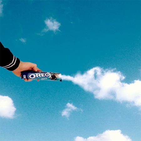 عکس جالب هنرنمایی با ابرها