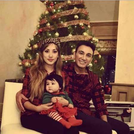شادمهر عقیلی و همسر و دخترش