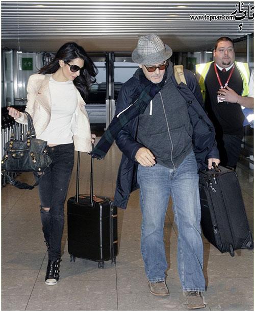 عکس های جدید جورج کلونی و همسرش امل علمالدین