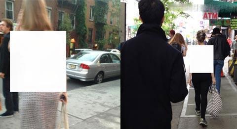 زن برهنه در خیابان های آمریکا