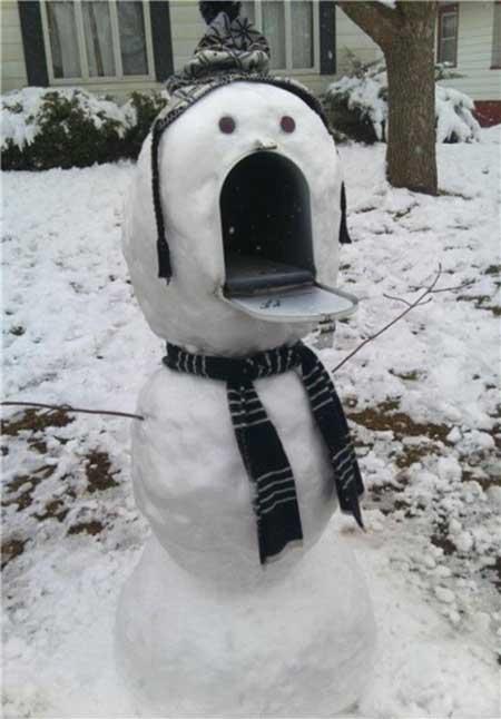 هنرنمایی با برف