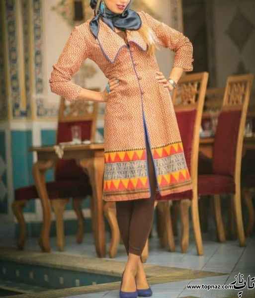 انواع مدل مانتو تیکه دار سنتی گلدار زنانه دخترانه 94