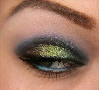 مدل آرایش چشم طاووسی