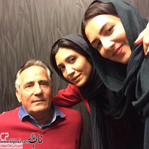 عکس نیکی کریمی و پدرش مجید مظفری