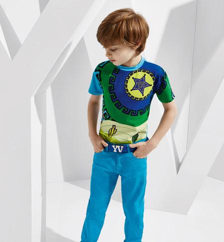 لباس کودکانه 1 کلکسیون مدل لباس کودکانه ورساچه بهار 2015