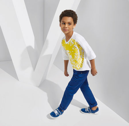لباس کودکانه 14 کلکسیون مدل لباس کودکانه ورساچه بهار 2015