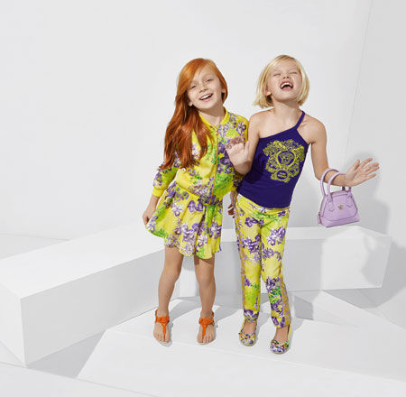 لباس کودکانه 6 کلکسیون مدل لباس کودکانه ورساچه بهار 2015