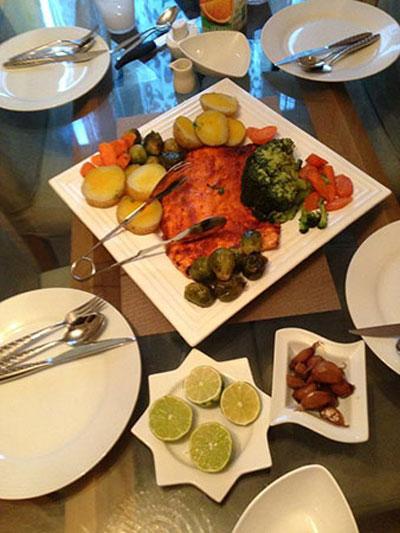 طرز پخت فیله سالمون,پخت ماهی شب عید