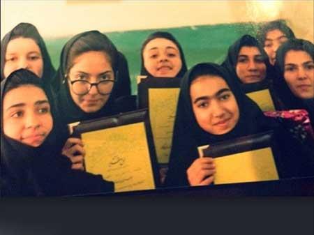 نوجوانی مهناز افشار در دبیرستان