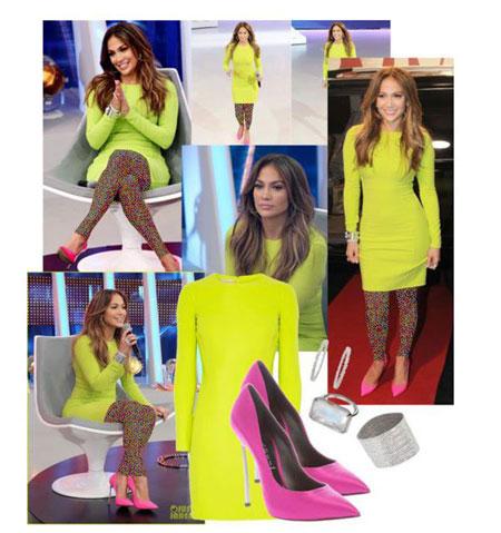 ست لباس بهاری جنیفر لوپز مدل لباس Jennifer Lopez