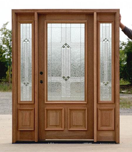 طراحی شیک چوبی دربهای ورودی