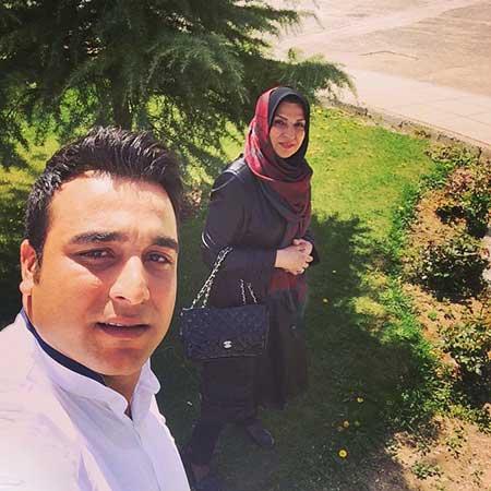 احسان حدادی و مادرش