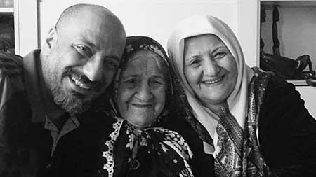 امیر جعفری و مادر و مادر بزرگش