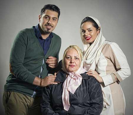 احسان خواجه امیری و همسر و مادرش
