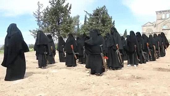 زنان سیاهپوش داعشی