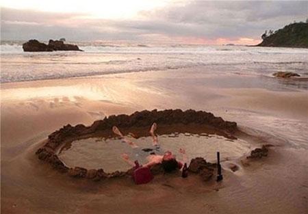 عکس های زیباترین چشمه های آب گرم