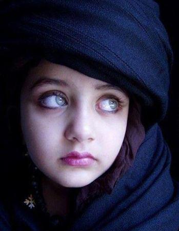 عکس دختر افغانی با چشم های زیبا