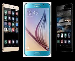Galaxy S6 و P8 Huawei