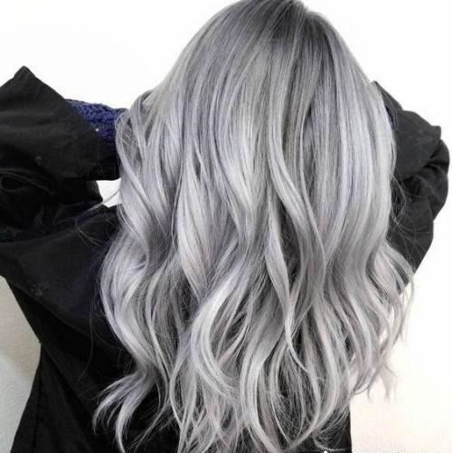 مدل رنگ موی طوسی