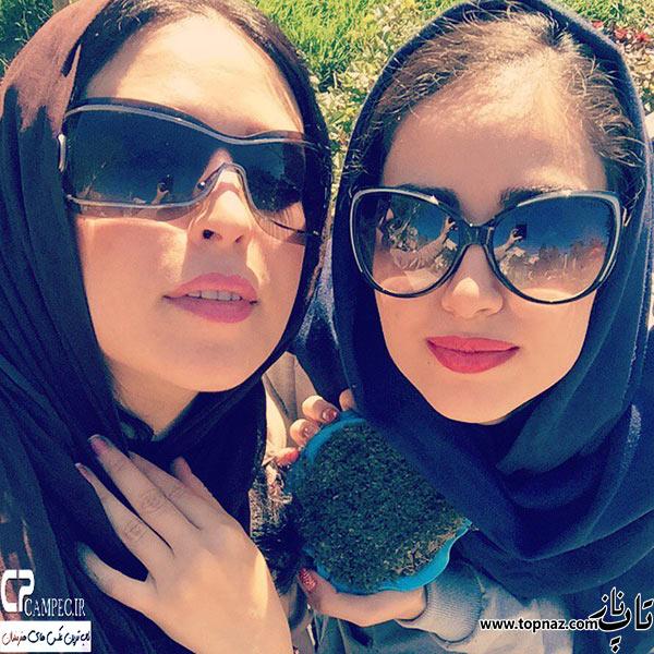 عکس های لادن سلیمانی و دخترش هانیه غلامی در سیزده بدر